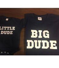 Big Dude little dude shirt father son matching shirts daddy son matching shirts