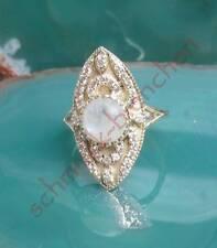 Anello stile vittoriano stile argento 925 bianca pietra di luna cristallo