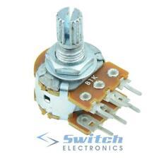 Dual Gang Linear 16mm Stereo Splined Potentiometer Pot - 1KΩ to 1MΩ