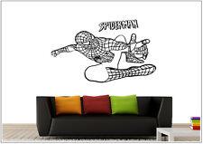 Wandtattoo wandaufkleber wandsticker photo tanzen Porträt spider Man wph46
