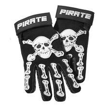 Pirate Handschuhe lang PIT schwarz, Pirat, Skull, Totenkopf