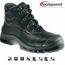 Da Uomo footguard S3 In Pelle Sicurezza sul Lavoro Stivali Acciaio Punta Scarpe Formatori SZ 6-13