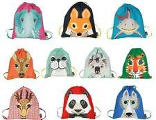 Kindergarten*Einschulung*Schule*Stoff*Turnbeutel*Tiere*Elefant*Tiger*Wolf*Reh&CO