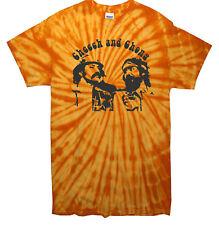Cheech e Chong Culto Tv Film Commedia Hippy Rétro Tintura a Riserva T Shirt