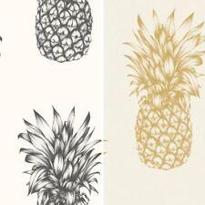 Arthouse Copacabana Pineapple Pattern Wallpaper Tropical Fruit Metallic Motif
