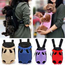 New listing Us Pet Carrier Backpack Adjustable Front Pack Cat Dog Travel Hiking Bag Legs Out