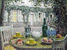 TABLE AT SUNSET by H. Sidaner cups Tile Mural Kitchen Backsplash Marble Ceramic