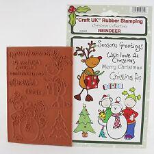 Craft UK Natale cartoni animati collezione TIMBRO foglio con EZ Mount