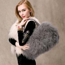 Womens large real long lamb fur/mongolian fur bag handbag UK