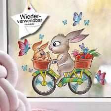 Fenstersticker Lepre Farfalle Vetrofanie Pasqua Primavera Immagini per Finestre