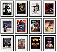 FRAMED 80s Movie Posters STAR WARS, INDIANA JONES, HORROR, BATMAN, JAMES BOND