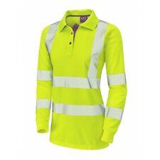 Leo Workwear pollyfield CLASSE 2 GIALLO coolviz Donna Maniche Lunghe Polo