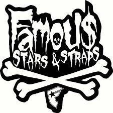 Famous Stars & Straps BMX Windscreen, Wall, Mirror Sticker Decal 190 x 190mm