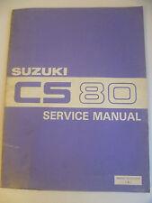GENUINE SUZUKI CS80 CS-80 WORKSHOP SERVICE REPAIR MANUAL BOOK 99500-10210-01E