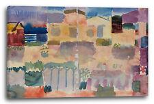 Lein-Wand-Bild Kunstdruck: Paul Klee - Garten in St. Germain, Das Europäische Vi