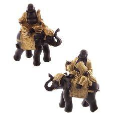 Buddha on Elephant Budda Figure buddafigur Feng Shui Buddhism Budda 2 variants