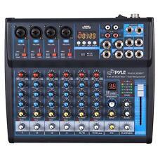 Pyle PMXU83BT Bluetooth 8 Ch. Studio / DJ Controller Audio Mixer Console System