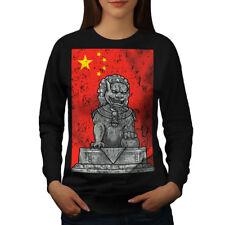China Flag Lion Fantasy Women Sweatshirt NEW | Wellcoda
