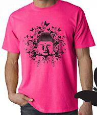Buddha Farfalla Neon T-SHIRT-YOGA MEDITAZIONE Buddista Buddismo-GRATIS P&P