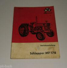 Betriebsanleitung Diesel Schlepper MF 178 MF Landtechnik Stand 03/1969