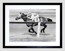Sport Pollard Jockey Seabiscuit Yonkers Empire City Race framed print b12x11276