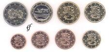 Finnland alle 8 Münzen 1 Cent - 2 Euro Kursmünzenset KMS alle Jahre wählen