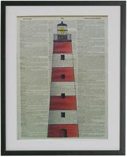 Lighthouse Print No.461, dictionary prints, nautical poster, ocean art
