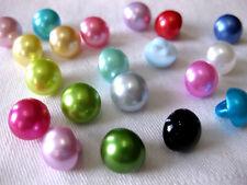 15 Knöpfe perlenförmig 10mm, verschiedene Farben,Farbe wählbar, K112