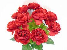 "Ranunculus Bush 12 Artificial Silk Flowers 18"" Bouquet 8206"