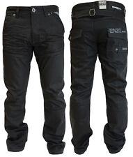 UOMO ENZO NERO RIVESTITO fashion jeans EZ 329 - nero denim rivestito
