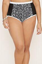 cc2046a0c2b0f Forever 21 Plus Black White Marbled High-Waisted Bikini Bottoms 1X 2 3X