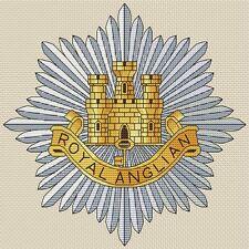 "Royal Anglian Regiment Cross Stitch Design (8x8"",20x20cm,kit or chart)"
