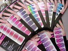 NAIL ART scintilla mozzafiato GLITTER Rainbows Nail Wraps COPERTURA COMPLETA ADESIVI polacco