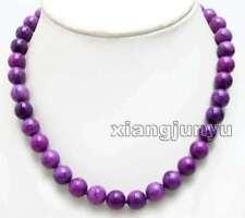 Fashion Big 10mm Purple Round High Quality Natural Sugilite 17'' Necklace-ne6382