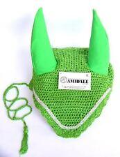 Ear RETE UNCINETTO MOSCA di cavallo velo con cristalli verde - Intero, piccolo,
