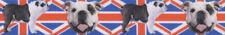 "Country Brook® 7/8"" English Bulldog Union Jack Grosgrain Ribbon"