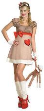 MS. SOCK MONKEY DELUXE ADULT WOMENS COSTUME Barnyard Theme Party Halloween