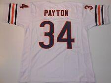 UNSIGNED CUSTOM Sewn Stitched Walter Payton White Jersey - M, L, XL, 2XL
