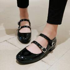 Yoooc Womens Round Toe Lolita Mary Jane Cute Ankle Strap Buckle Heels Casual Sho