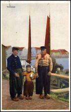 EDAM volendam Hollande 1928 2 hommes avec kl. jeunes AK