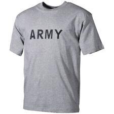 Hombres De Combate T-Shirt Militares Patrulla Top Cadete Gimnasio Tee Con Ejérci