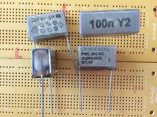 100nF 250 V AC 1000 V DC Y2 Condensatore Soppressione EMI PME265 carta metallizzata