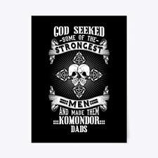 "God Seeked Komondor Dad Tee Gift Poster - 18""x24"""