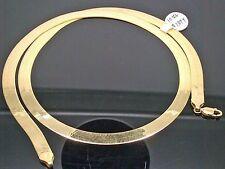10K Yellow Gold 24 Inch 7mm Width Herringbone Men/Women Necklace