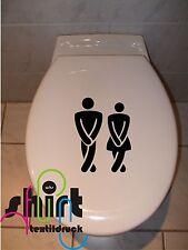 A 1026 - Pipi  Mann Frau WC Toilettendekor  Aufkleber  Toilettenaufkleber