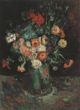 Vase Zinnias & Geraniums Paris Van Gogh VG261 Repro Art Print A4 A3 A2 A1
