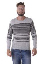 Maglione Daniele Alessandrini Sweater -60% Gattuso Uomo Grigio FM91393606-1110