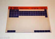 Microfich Ersatzteilkatalog Yamaha DT 100 ab 1980