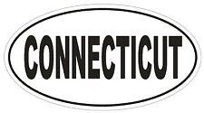Connecticut Oval Bumper Sticker or Helmet Sticker D2323 State Euro Oval
