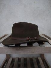 OUTBACK flexfelt Bush Cappello Da Olney cappucci -- 100% lana, Verde Oliva, S / M / L / XL